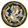 RARE ASSIETTE DE GUBBIO DU 16ème siècle