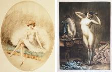 CARLE DUPONT (1872) Jeune danseuse au repos et fille de joie au miroir