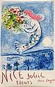 MARC CHAGALL (1887-1985) Nice, Soleil Fleurs