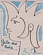 JEAN COCTEAU(1889-1963) « Monte-Carlo, Gala des Rois » 1963