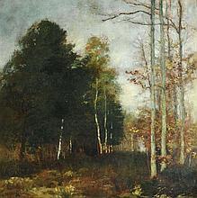 HENRI GERVEX (1852-1929) « La Clairière en automne »