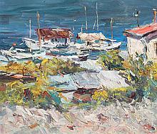 YURI VALENTINOVICH ZORKO (1937)  Voiliers en bord de mer