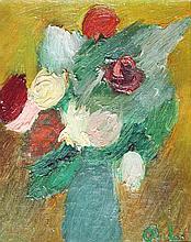 ANDRE LANSKOY (1902-1976)  Nature morte aux fleurs