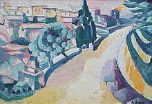 ANDRE LHOTE  (1885-1962)  Paysage du Sud de la France