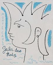 JEAN COCTEAU (1889-1963)  « Monte-Carlo, Gala des Rois » 1963