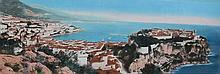 JEAN GILETTA (1856-1933)  Vue du Rocher de Monaco