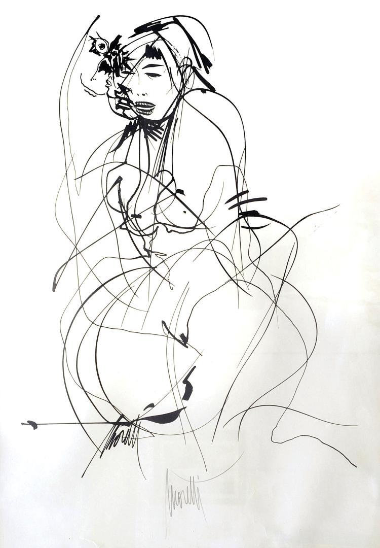 RAYMOND MORETTI (1931-2005) La chanteuse