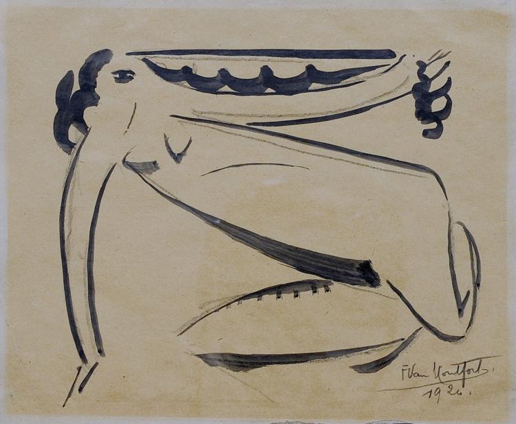 FRANZ VAN MONTFORT (1889-1980) Nu, 1920
