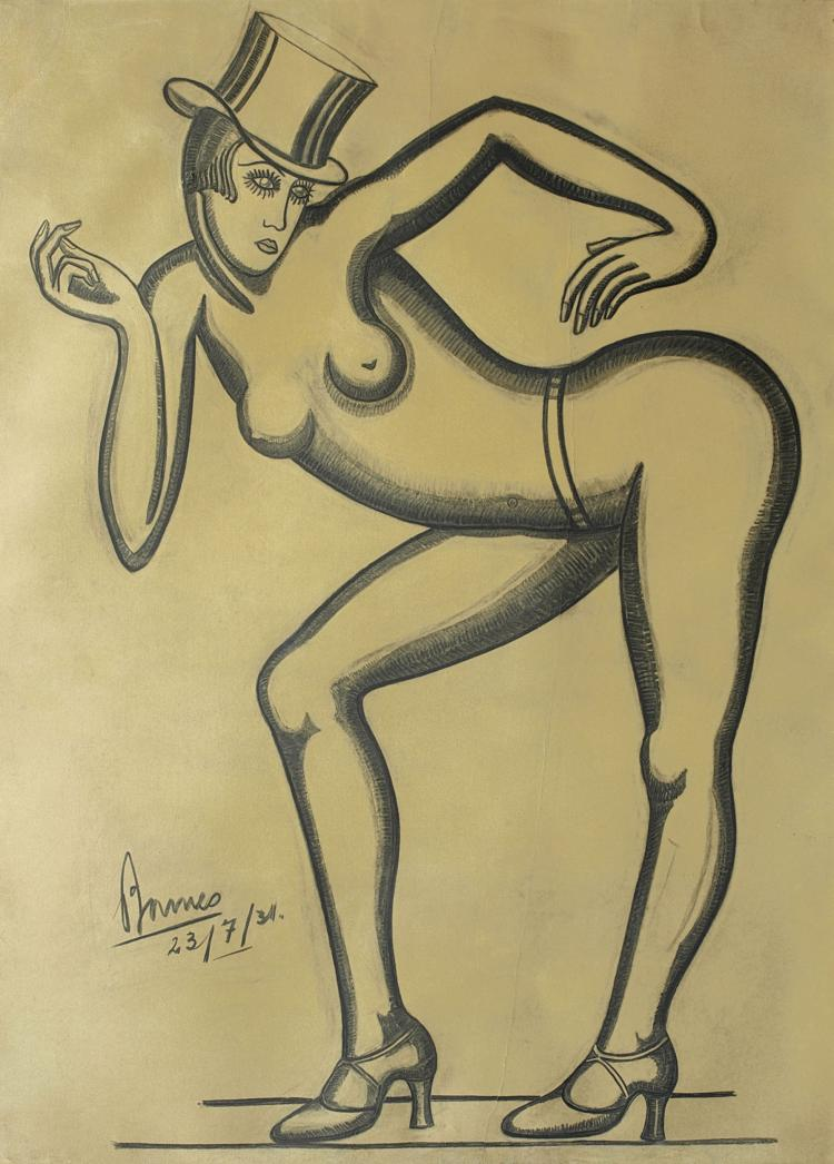 EDUARDO A. BARNES (1901-1977) Joséphine Baker, 1931