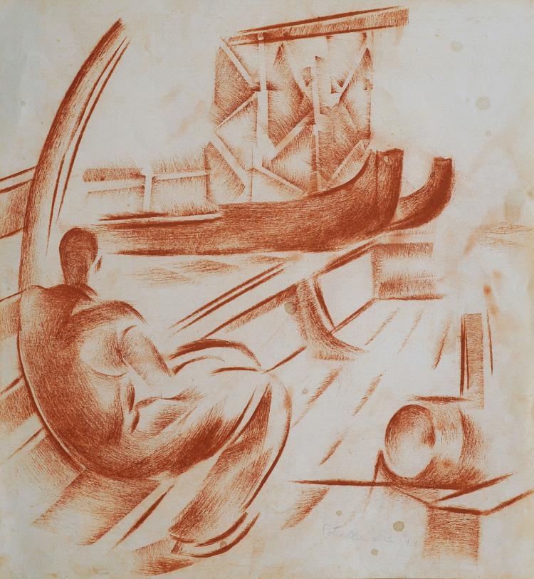 VITTORIO PETRELLA DA BOLOGNA (1886-1951) Le batelier à Venise, 1929