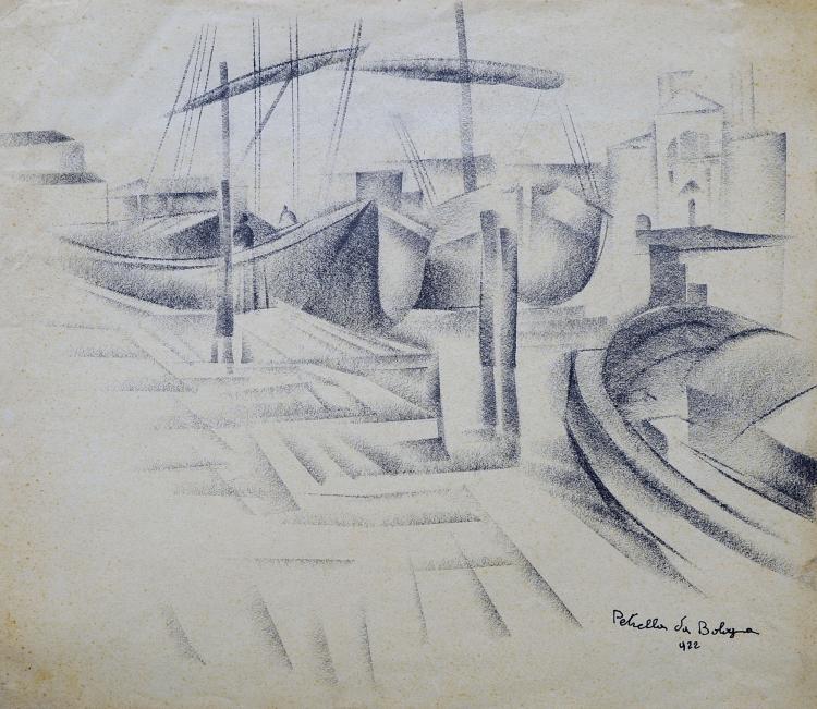 VITTORIO PETRELLA DA BOLOGNA (1886-1951) Quai à Venise, 1922