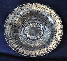 1930s HEISEY RIDGELEIGH STERLING OVERLAY CENTER BOWL XJ