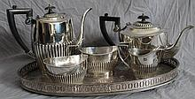 CHELTENHAM & CO 5 PC ENGLISH TEA SET WITH TRAY