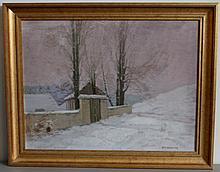 ROMAN HAVELKA (1877-1950) PAINTING ON BOARD FRAMED