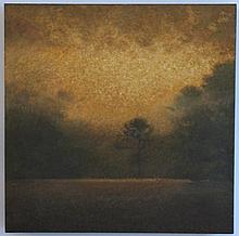 MICKEY WILLIAMS OIL ON CANVAS SUN THROUGH FOG