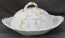 RARE 1895 THEO HAVILAND HP LIMOGES COVERED BUTTER DISH