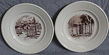 2 PC WEDGWOOD CHARLESTON SC PLATES