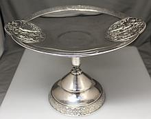 1870 VICTORIAN AESTHETIC ROGERS SMITH CHERUB TAZZA