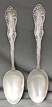 PAIR STERLING SILVER TOWLE OLD ENGLISH TABLESPOONS