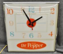 1960 DR PEPPER STORE DISPLAY PAM ADVERTISING CLOCK