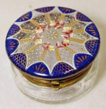 1920s BAVARIAN SCARE HD BLOWN & PAINTED LADIES RING BOX