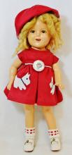 1934 IDEAL SHIRLEY TEMPLE 15 INCH N & T COMPOSITE DOLL