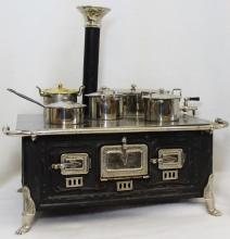 RARE GERMAN MARKLIN STOVE NICKLE SILVER STOVE 1900
