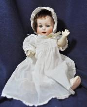 HEUBACH GERMAN BISQUE 1912 TODDLER DOLL 10 INCH