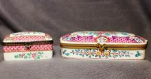 1950s FRENCH HP ORMOLU CHINOISERIE LADIES DRESSER BOXES