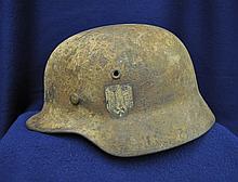 RARE WWII M1935 GERMAN 1941 KRIEGSMARINE ET66 HELMET XT