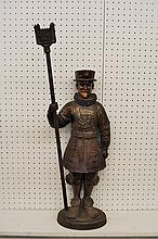 TOWER OF LONDON BEEFEATER COPPER FIREPLACE HOLDER XT