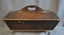 1870s PRIMATIVE PENNSYLVANIA DUTCH WOOD SEWING BOX XT