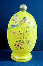 1960 CZECH ART GLASS CORALENE EGG CORDIAL SERVER SET XR