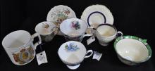 5pc HP FINE ENGISH BONE CHINA DEMI CUP SAUCER SETS XT
