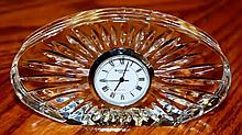 1970 SIGNED WATERFORD CRYSTAL DESK CLOCK PAPERWEIGHT XC