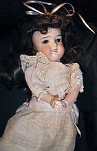 DOLLY FACE DOLL 390 17 INCH DOLL 1890's GLASS EYES XC