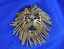 VTG LION TERRIER DOG COSTUME JEWELRY PIN PENDANT XK