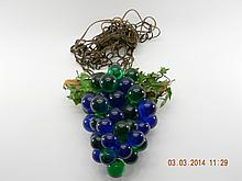 Vintage Hanging Swag Lucite Grape light