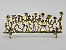Brass Menorah W/ Figures