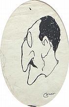 William Conor RHA PRUA OBE (1884-1968)Caricature of a GentlemanOval, pen an