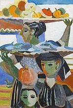 Fr. Jack P. Hanlon (1913 - 1968)French Market WomenOil on canvas board, 53.