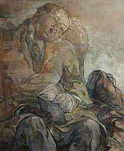 Mary Swanzy HRHA (1882 - 1978)Sleep in a Railway CarriageOil on canvas, 30