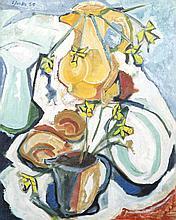 David Clarke (1920-2005)Still Life with Daffodils (1950)Oil on canvas, 76 x