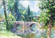 Brett McEntaggart RHA (b.1939)Bridge on the DroptWatercolour, 35 x 50cm (13