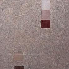 Felim Egan (b.1952)Abstract Composition - TaupeOil on board, 48 x 48cm (19