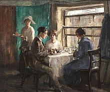 Estella Frances Solomons HRHA (1882-1968)Afternoon TeaOil on canvas, 51 x 5