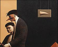 John Boyd (b.1957)The Alternative HypothesisOil on board, 46 x 56cm (18 x 2