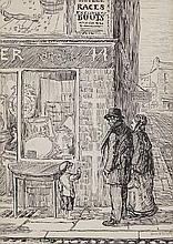 Jack Butler Yeats RHA (1871 - 1957)The Scene of a TragedyPen and Ink, 25 x