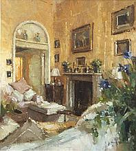 Mark O'Neill (b.1963)Interior - Midday QuietOil on board, 48.5 x 44cm (19 x