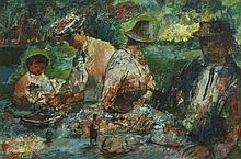 Daniel O‰ÛªNeill (1920 - 1974)Dinner in the Garden (1925)Oil on board, 36 x